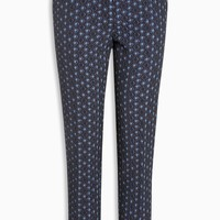 Buy Blue Textured Jacquard Skinny Trousers from the Next UK online shop