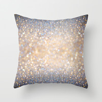 Glimmer of Light (Ombré Glitter Abstract) Throw Pillow by soaring anchor designs ⚓ | Society6