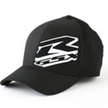 Suzuki GSXR 3D Embroidered Flexfit Hat Black Large/XLarge