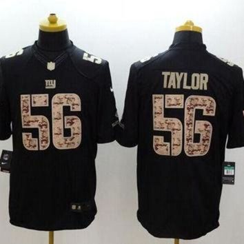 VLX9RV Nike Giants #56 Lawrence Taylor Black Men's Stitched NFL Limited Salute to Service Jer