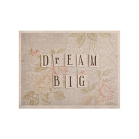 "Debbra Obertanec ""Dream Big"" Quote Floral KESS Naturals Canvas (Frame not Included)"