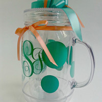 Poka-Mint and Coral Mason Jar!