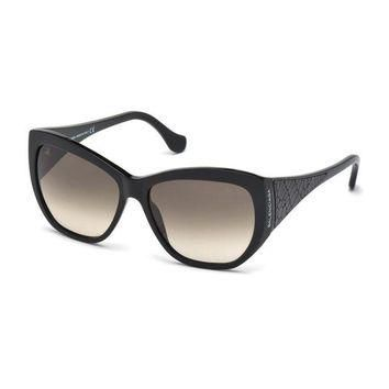 ONETOW leather temple square sunglasses balenciaga 2