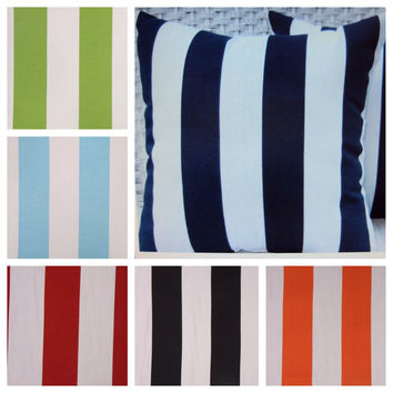 Stripe Outdoor Pillow Cover - Available In 3 Sizes and Several Colors