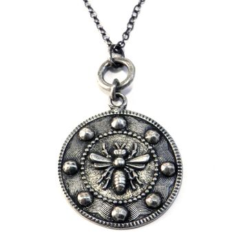 Large QUEEN BEE Circlet Necklace - SILVER
