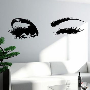 Wall Decal Eyes Sexy Girl Woman Vinyl Sticker Unique Gift z3260