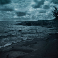 Lake Superior Photography Decor | Landscape Waterscape Stormy Gothic Print| Home Office Bedroom Bathroom Decor