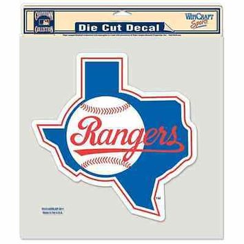 "TEXAS RANGERS COOPERSTOWN 8""X8"" COLOR DIE CUT DECAL BRAND NEW WINCRAFT"