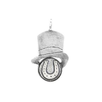 Horseshoe Good Luck Medallion Hat Necklace
