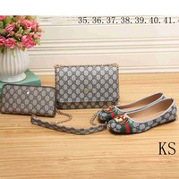 GUCCI New counter tide brand fashion high quality fashionable three-piece F-KSPJ-BBDL blue