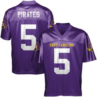 East Carolina Pirates #5 Fan Football Jersey - Purple