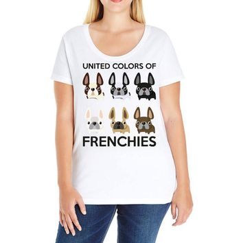united color of frenchies Ladies Curvy T-Shirt