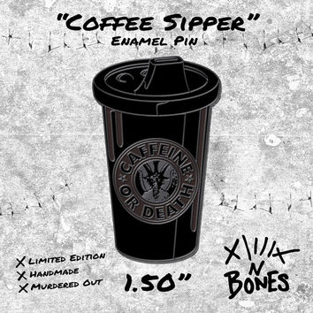 Coffee Sipper BLACK EDITION Enamel Pin