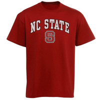 NC State Wolfpack Arch Over Logo T-Shirt - Red