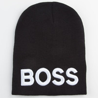 Boss Beanie Black One Size For Women 23067110001