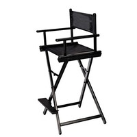 Trademark Innovations Counter Height Wooden Director's Chair, Black