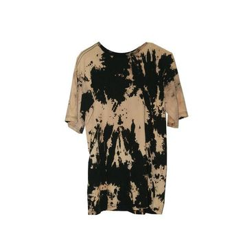 ONETOW Clutch Bleached Tee In Black