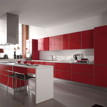 Rered lacquer kitchen cabinet