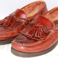 SPERRY Top-Sider Boat Loafers Brown Tassel Mens Shoes Size 9.5 W