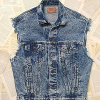 Free People Vintage Levi's Denim Vest