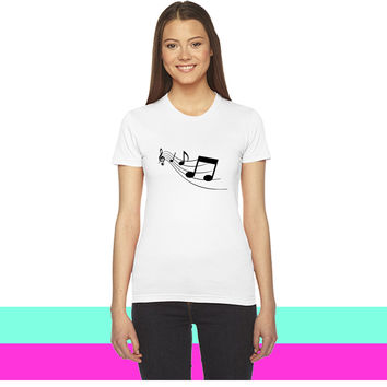 Music Notes_ women  women T-shirt