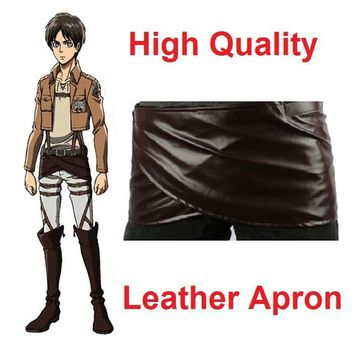 Cool Attack on Titan no   Deluxe Edition Cosplay Costumes Chocolate Leather Apron Belt Skirt   AT_90_11