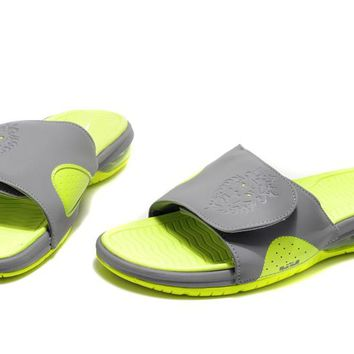 Nike Air LeBron Slide Green/Gray Casual Sandals Slipper Shoes Size US 7-11