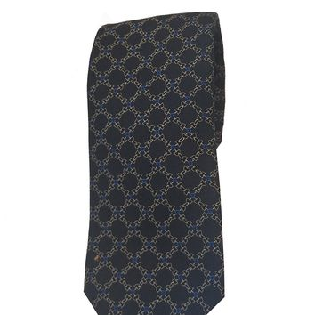 Gucci Men's Navy Blue and Gold Necktie 349401