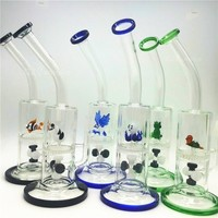 Two Functions Glass water pipes Cute Animal Funny Green Turtle Colorful bong Eagle Fish Frog Honeycomb Dab Oil Rig Bongs dab rigs heady