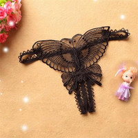 5Colors  Ladis Sexy Butterfly G-string underwear lace G String And Thongs Women transparent lingerie underpants panties #23 BL