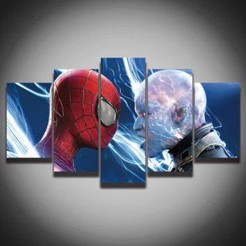 New 5 Piece canvas Spiderman decorations for home