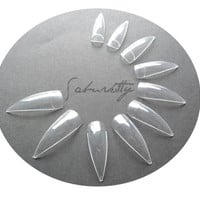 Alien Crystal Clear Nails Blanks w/ Nail Art PDF by saburkitty