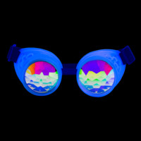 Glow Blue Kaleidoscope Goggles UV Reactive