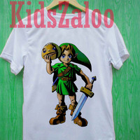 the legend of zelda majora s mask For T-shirt Unisex Adults size S-2XL Black and White