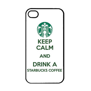 Keep Calm Drink Starbucks Coffee -  iPhone 4 Case - iPhone 4 cover - iphone 4S case - cute iPhone 5 case - iPhone 5 cases - iPhone 5 cover