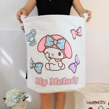 My Melody Large Home Foldable Laundry Basket Clothes Socks Toys Storage Holder