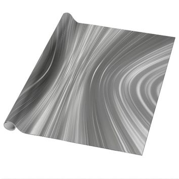 Gray Mist Driving Dreams Wrapping Paper