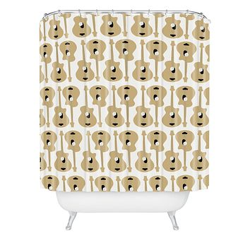 Allyson Johnson Guitar Pattern Shower Curtain