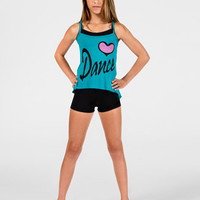 Free Shipping - Dance Child String Back Camisole Top by FUNKY DIVA