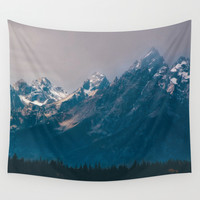 Magic Mountains Wall Tapestry by Kenna Allison