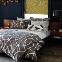 DwellStudio | Modern Duvet Covers - Chic Bed Linens - Bedding Sets - Gate Ash Duvet Set