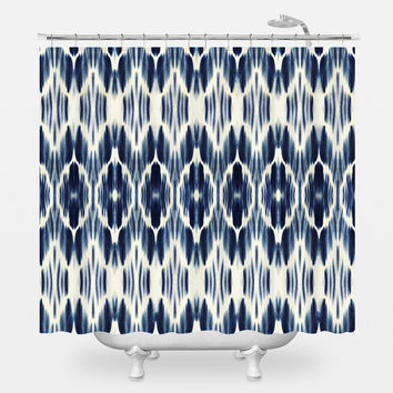 Boheme Indigo Shower Curtain
