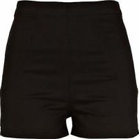 Black high waisted shorts - shorts - sale - women