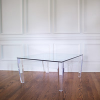 Lucite Ice Coffee Table