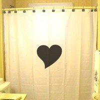 Love Heart Shower Curtain Symbol of Love Romance Valentine's Day Romantic