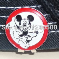 Free Shipping Mickey - Metal Golf Ball Marker & Magnetic Hat Clip