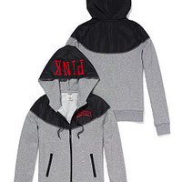 The Ohio State University Colorblock Zip Hoodie - PINK - Victoria's Secret