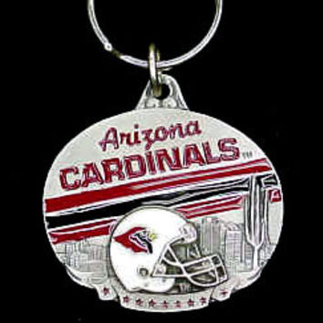 NFL Team Oval Carved Metal Key Chain