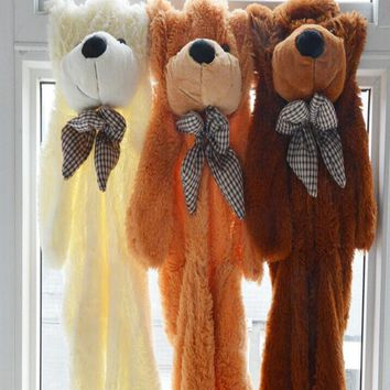 Semifinished Teddy Bear Plush Toy The Bear Skin ,The Bear Coat DIY Teddy Bear Plush Toy  80cm 100cm 120cm 140cm 160cm 200cm