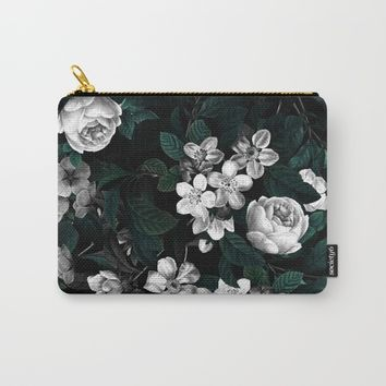 Botanical Night Carry-All Pouch by Burcu Korkmazyurek